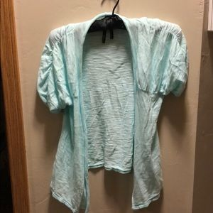 Teal short sleeve cover up